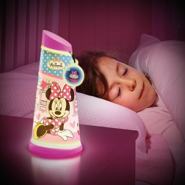 Minnie Mouse Iluminan Lámpara Mesilla INCLINABLE Linterna NUEVO Lámpara