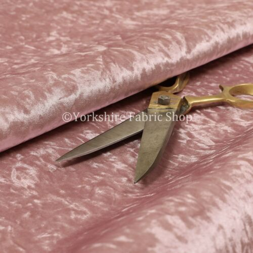 New Rich Luxury Pink Crushed Velvet Upholstery Sofas Curtains Glamour Fabrics