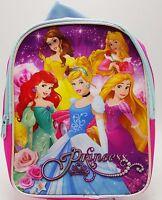 Disney Princess Pink Girls Backpack Purse Travel Bag 8x10