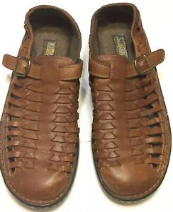 rj colt for life mens brown leather sandals casual shoes