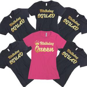 4e633ad35 Birthday TSHIRT Birthday QUEEN SQUAD Lady Tee Shirt Birthday Party ...
