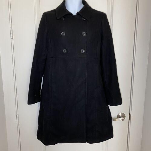 Gap Maternity womens coat size M black pea coat wo