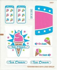 LEGO 70804 - The Lego Movie - Ice Cream Machine - STICKER SHEET