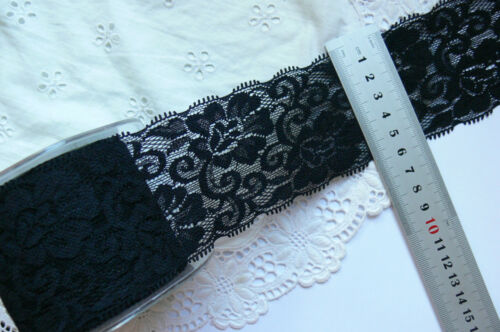 Polyester Stretch Floral Lace 65mm wide 8 Colours 2Metre Lengths MultiList LrgRD