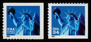 #3451 & 3485 Estatua De Libertad, Nuevo Cualquier 5=
