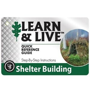 New Ultimate Survival Technologies UST Live And Learn Cards Shelter Building