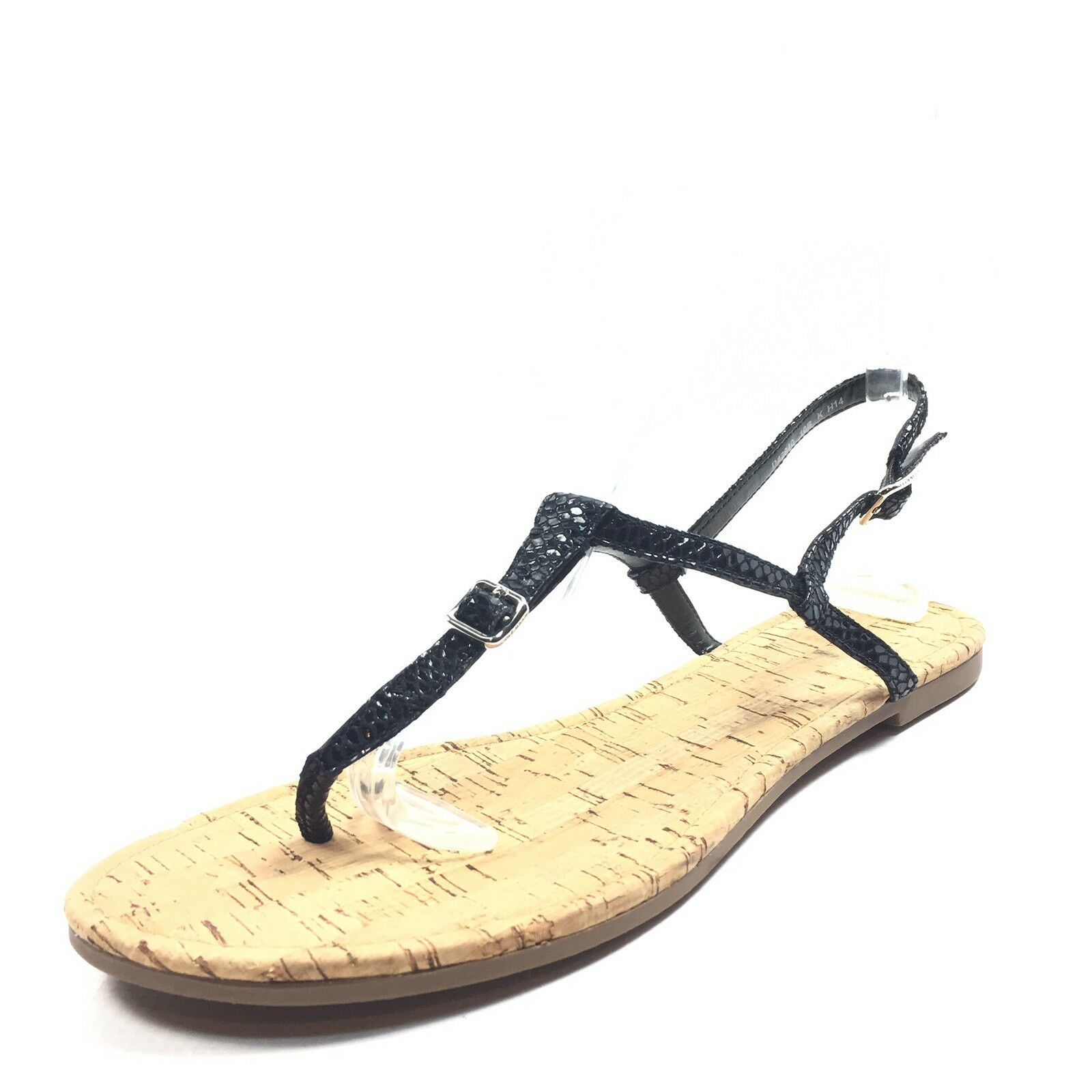New $128 Cole Haan Britt Black Leather Thong Sandals Women's Size 10 M*