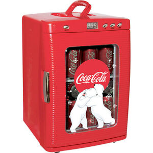 0960890b Image is loading Compact-Coca-Cola-28-Can-Mini-Refrigerator-Countertop-