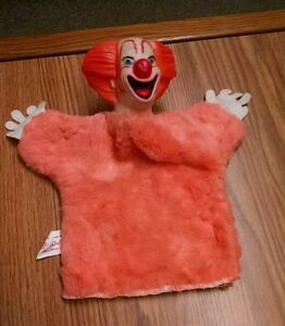 Rare Vintage Bozo Hand Puppet, Renall Dolls, Hollywood CA, 1950's?
