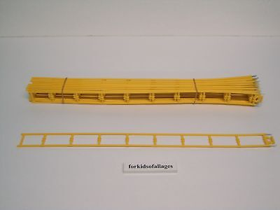 """Micro Knex Track 13 Red+13 Yellow 16/"""" Straight Roller Coaster Parts 26 Piece Lot"""