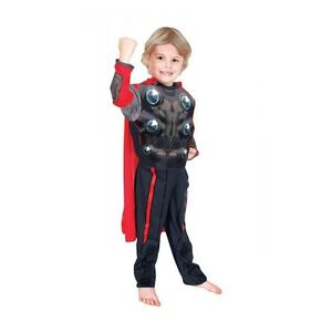 Costume Thor Deluxe Muscle Child RUBIE'S Marvel Dress New