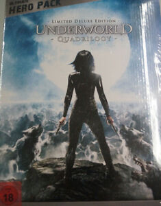 Underworld-1-4-Quadrilogy-Limited-Ultimate-Hero-mit-Figur-4-Blu-Ray-Box-NEU-amp-OVP