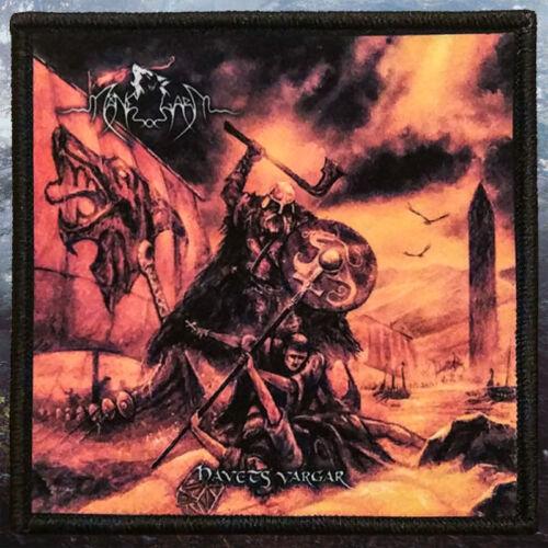 Viking Metal Black Havets VargarPrinted PatchSwedish Folk Manegarm