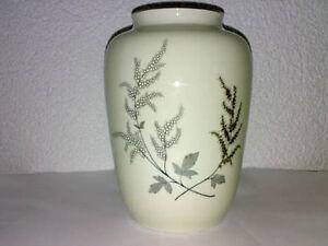 Vase-Porzellan-VEB-Lichte-DDR-Goldrand-Ostalgie-Floral