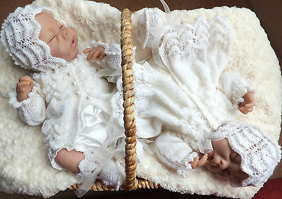 KNITTING PATTERN (INSTRUCTIONS) TO MAKE **FAITH and HOPE** BABY SETS IN 2 SIZES