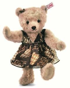 Steiff Jane Light Beige Alpaca Jointed Teddy Bear 24cm 1500 Limited 034992 New