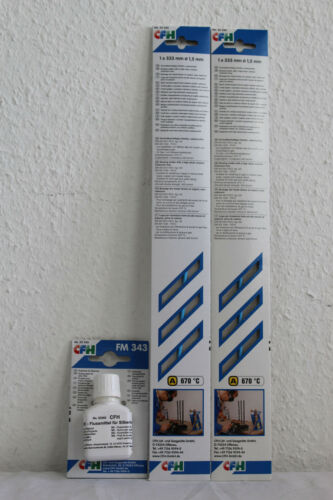 CFH Set Flussmittel für Silberlote FM 343+2 X Hochsilber Hartlot 52320