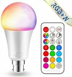 ILC-Couleur-Changeante-Ampoule-Dimmable-10-W-B22-Baionnette-RGBW-DEL-Light-Bulbs