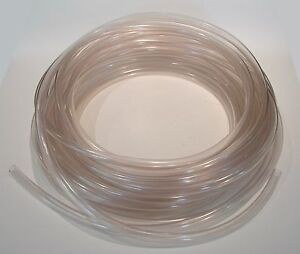 "New Food Grade Clear PVC Tubing Vinyl 3/8"" x 1/2"" Kuri Tec K050 Pre-Cut 50 Ft."