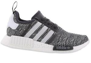 98dbd6a38437 Adidas NMD R1 Boost Utility Black Grey BY3035 Womens Trainers ...