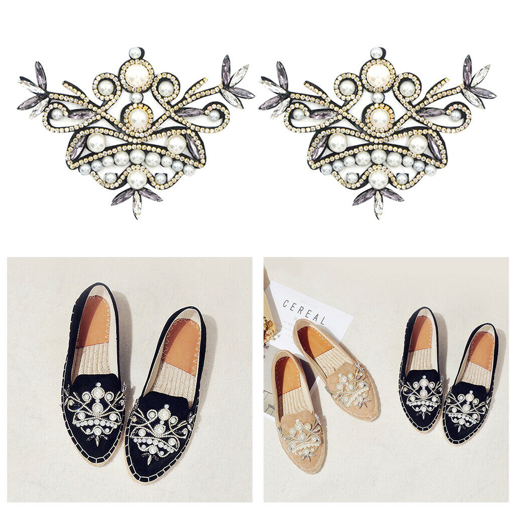 Rhinestone Crystal Shoe Charms Wedding Pointed Shoes Decoration Jewelry