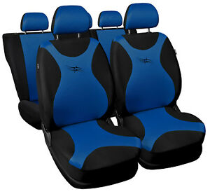 Car-seat-covers-fit-Nissan-Murano-black-blue-full-set