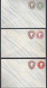 UK-GB-1889-THREE-QUEEN-VICTORIA-POSTAL-COVERS-H-amp-G-KB-111-KB-118-KB-119-MINT