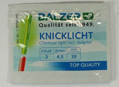 20 Stück BALZER Knicklichter Grün//Gelb TOP-Qualität 4,5x39mm Knicklicht