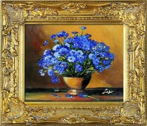 Oil-Painting-Flowers-Plant-Picture-with-Frame-G05880