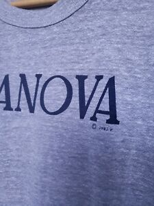 Villanova-University-Tshirt-Heather-Gray-Vintage-80s-1983-Champion-Thin-Wildcats