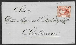 Mexico covers 1873 folded cover Méjero to Colima