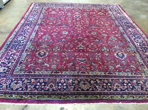 Authentic Vintage Turkish Sparta Rug Hand Knotted Wool All