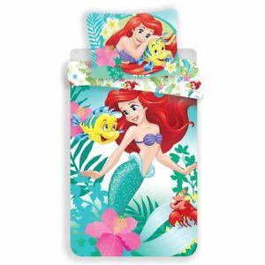 Disney-Princess-Ariel-Housse-Couette-Simple-Europeen-Housse-D-039-Oreiller-Coton