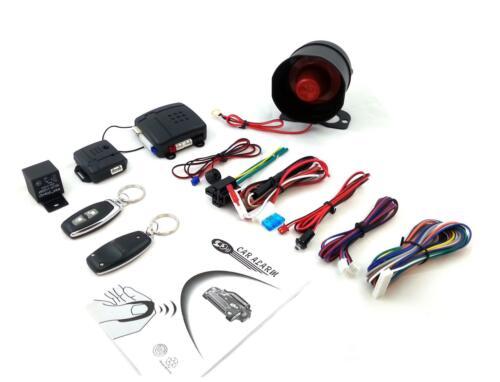 Auto Kfz Universal Schutz-System Alarmanlage mit 2 Handsendern ZV-Ansteuerung