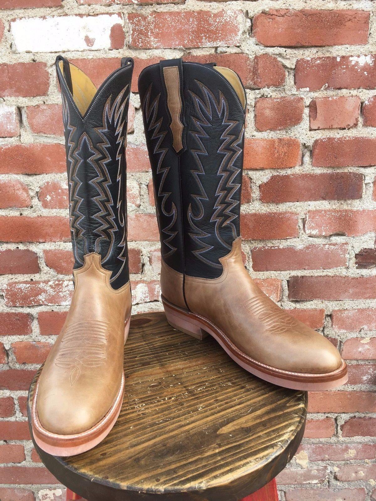 Cabottes MARRON CLAIR fait main travail Bottes de cowboy homme Taille 14.5B
