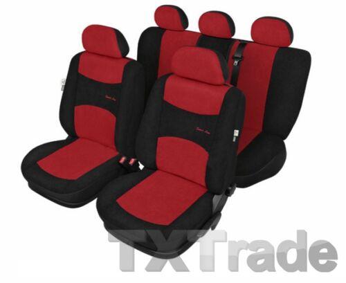 Sitzbezüge SEAT TOLEDO IV ab 2013 Sitzbezug Schonbezüge SPORT ROT UNIVERSAL
