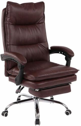Bürostuhl Power Kunstleder mit Fußablage Chefsessel Drehstuhl Schreibtischstuhl