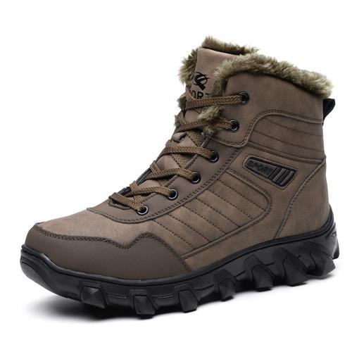 39-48 Men Boots Winter Plus Velvet Thick Warm Cotton Shoes Outdoor Snow Boots
