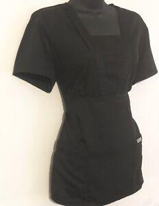 Grey-s-Anatomy-Nursing-medical-scrub-shirt-blouse-top-Medium-Black