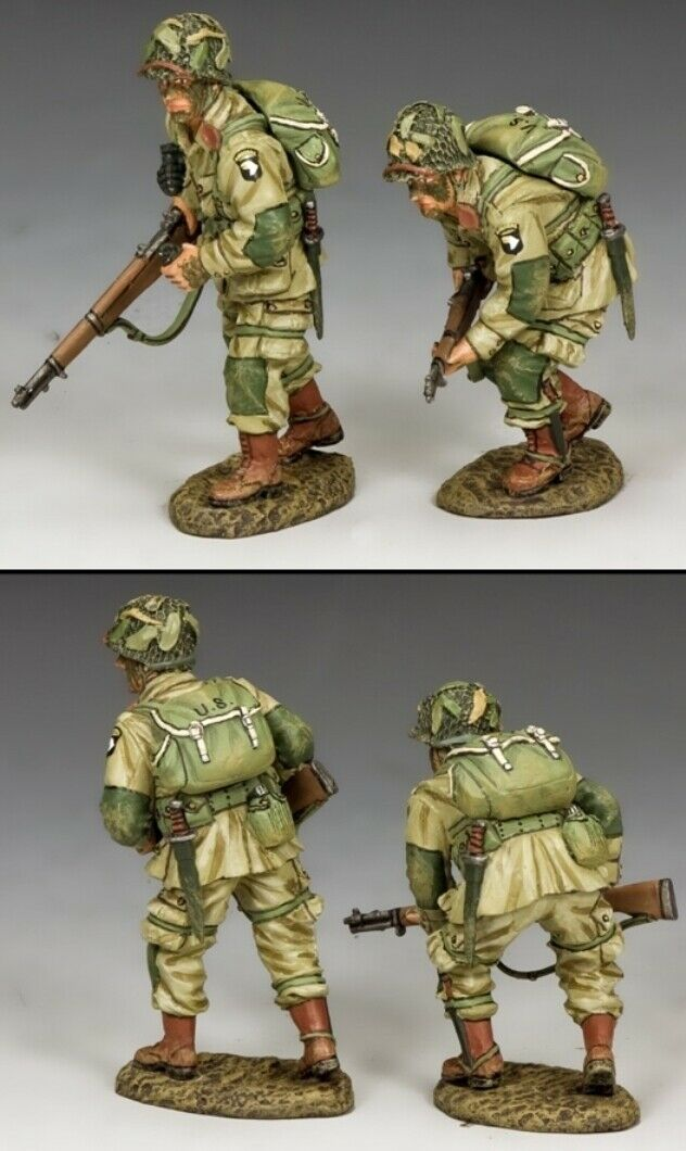 KING & COUNTRY D DAY DD288-2 U.S 101ST AIRBORNE MOVING FORWARD MIB