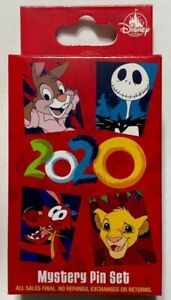 Disney-Pin-Trading-2020-Collection-Blind-Mystery-Pin-Box-NEW-SEALED-2-Pins