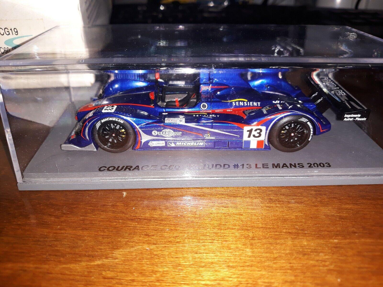 Spark  Courage C60 JX Judd  13 Le Mans 2003 SCCG19