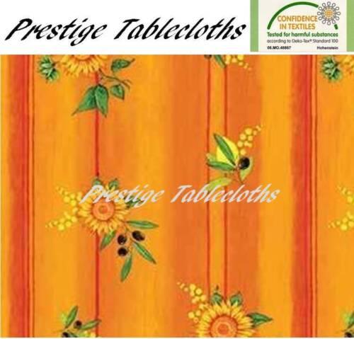 ALL SIZES Code F377-5 Sunflower Lemon Olive PVC Vinyl Wipe Clean Tablecloth