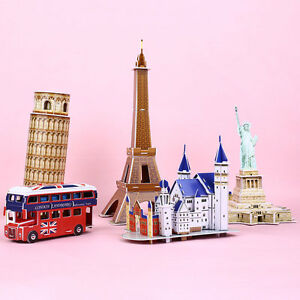 3d model puzzle education toys gift 5 shapes statue of liberty for
