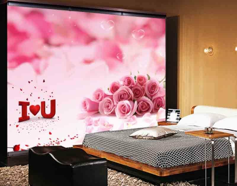 Delicate Pretty Rose 3D Full Wall Mural Photo Wallpaper Printing Home Kids Decor