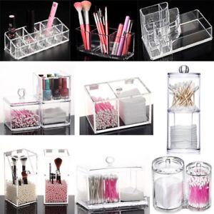 Clear-Makeup-Holder-Brush-Jewelry-Organizer-Acrylic-Cosmetic-Case-Storage-Box