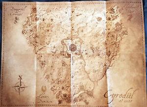 Details about Cyrodiil At War Paper Map For The Elder Scrolls Online  Original Official