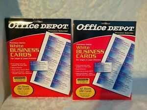 2- 300 NEW PACKS ULTRA WHITE  Print your own business cards Avery, Office Depot