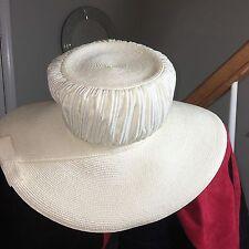 Vintage Lilly Dache Dachettes Women's Designer Hat Wide Brim White