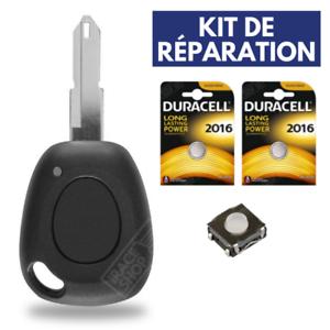 Clé 2 Touches Boutons Réparation Remplacement Boîtier en plastique radio pour Renault
